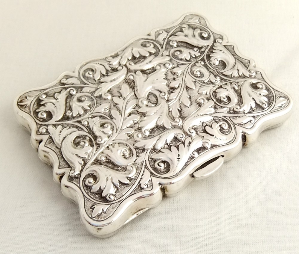 Exquisite Antique Silver Note Case Birmingham 1898 ...