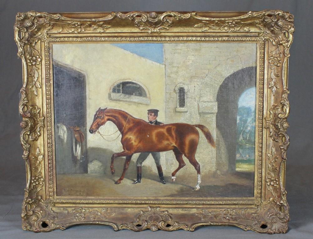 alfred frank de prades 18441883 19th century oil horse portrait