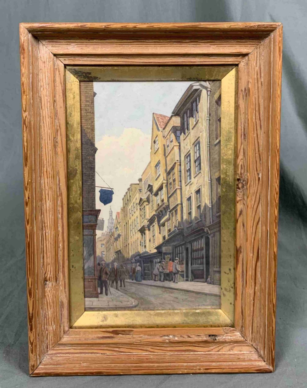 major alfred bennett bamford 18571939 watercolour painting bookseller's row 1901