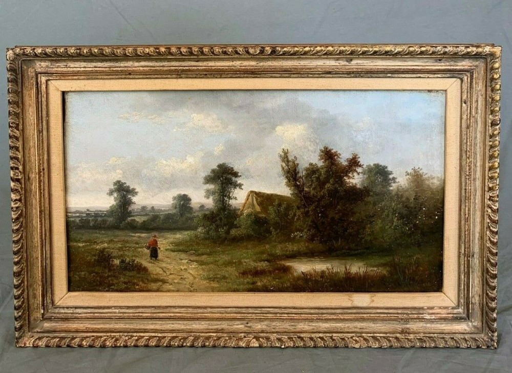 countryside oil painting by charles vickers 18211895