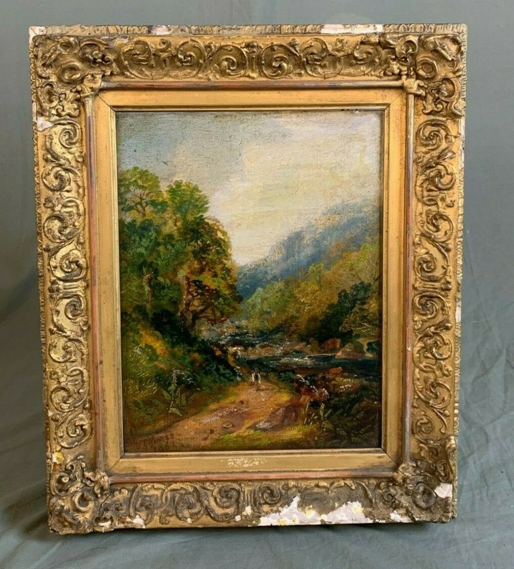 19th century oil painting landscape 1862 by w p norman