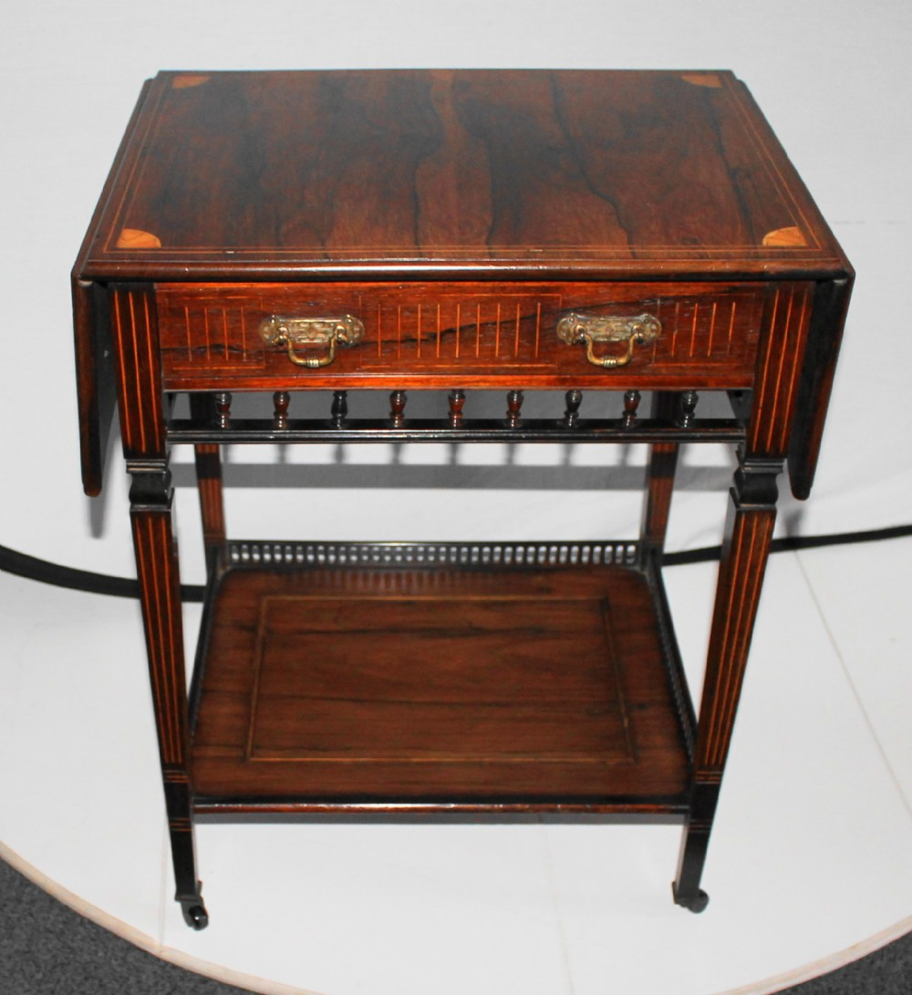 good quality edwardian rosewood and inlaid occasional table