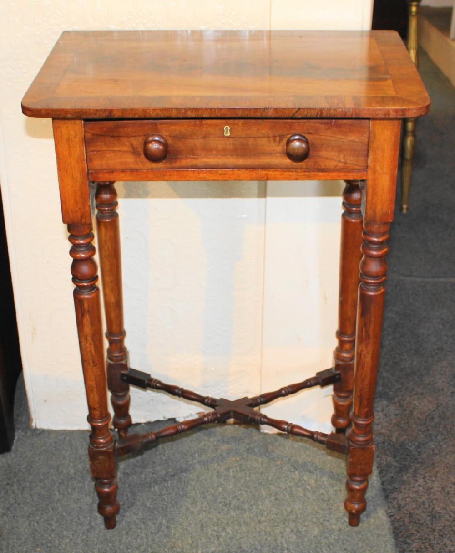 early 19th century small mahogany side table