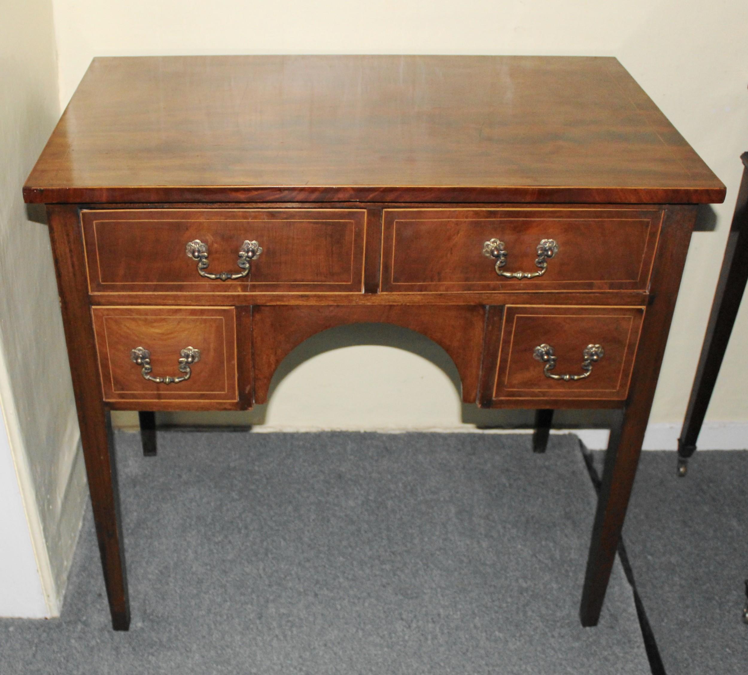 early 19th century mahogany kneehole side table