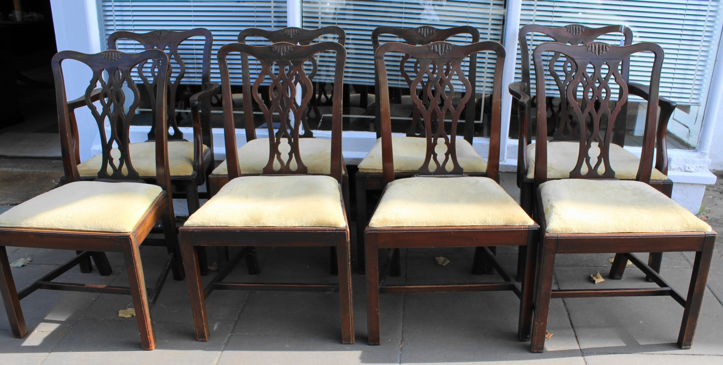 set of eight early 20th century mahogany dining chairs