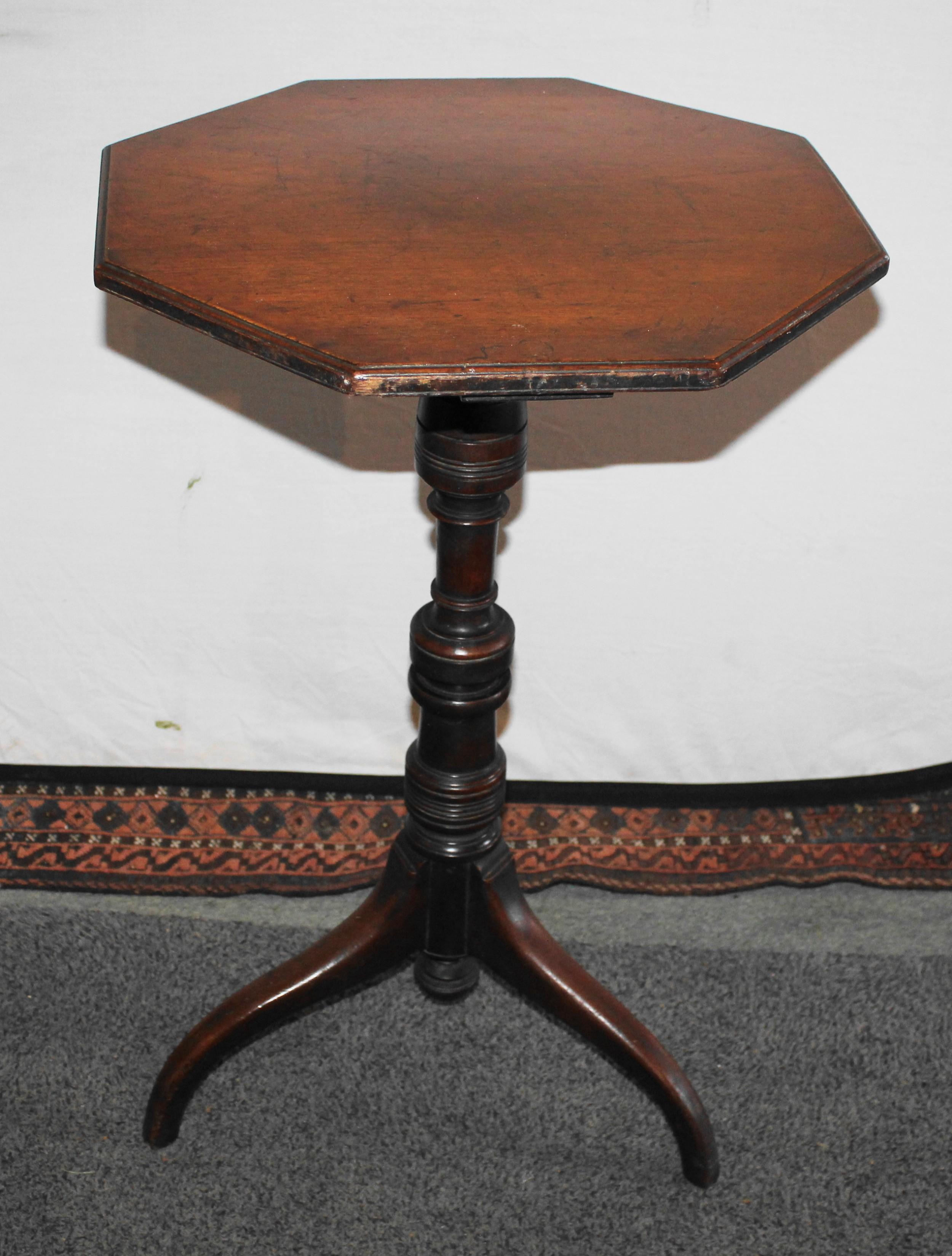 victorian walnut tripod table