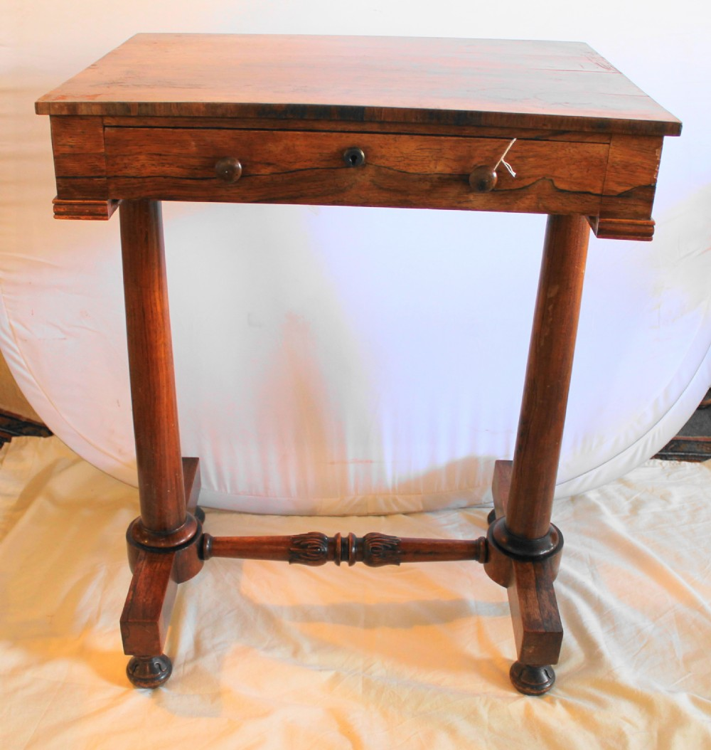 William iv rosewood small side table 326265 for Tiny side table