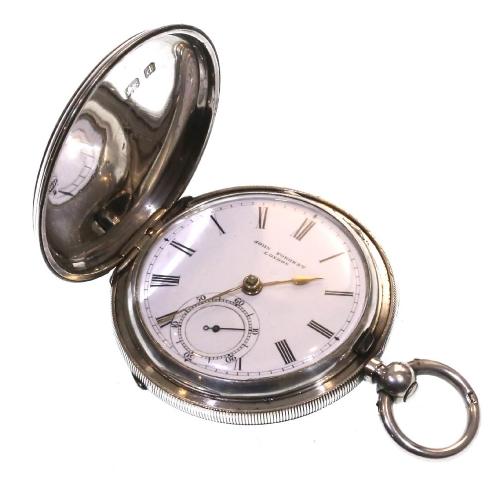 1903 john forrest full hunter pocket watch silver