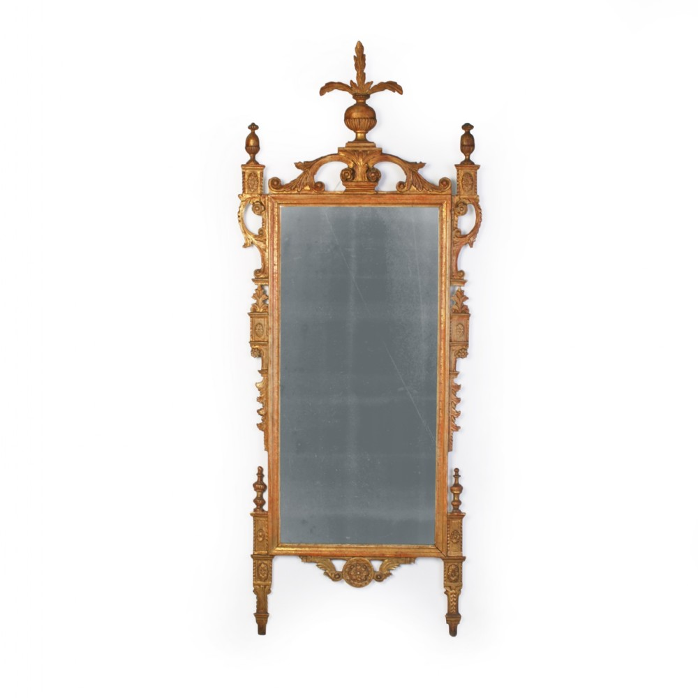 an 18th century italian carved giltwood mirror