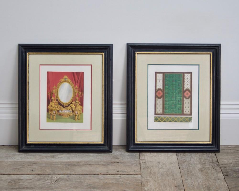 a set of four 19th century decorative prints