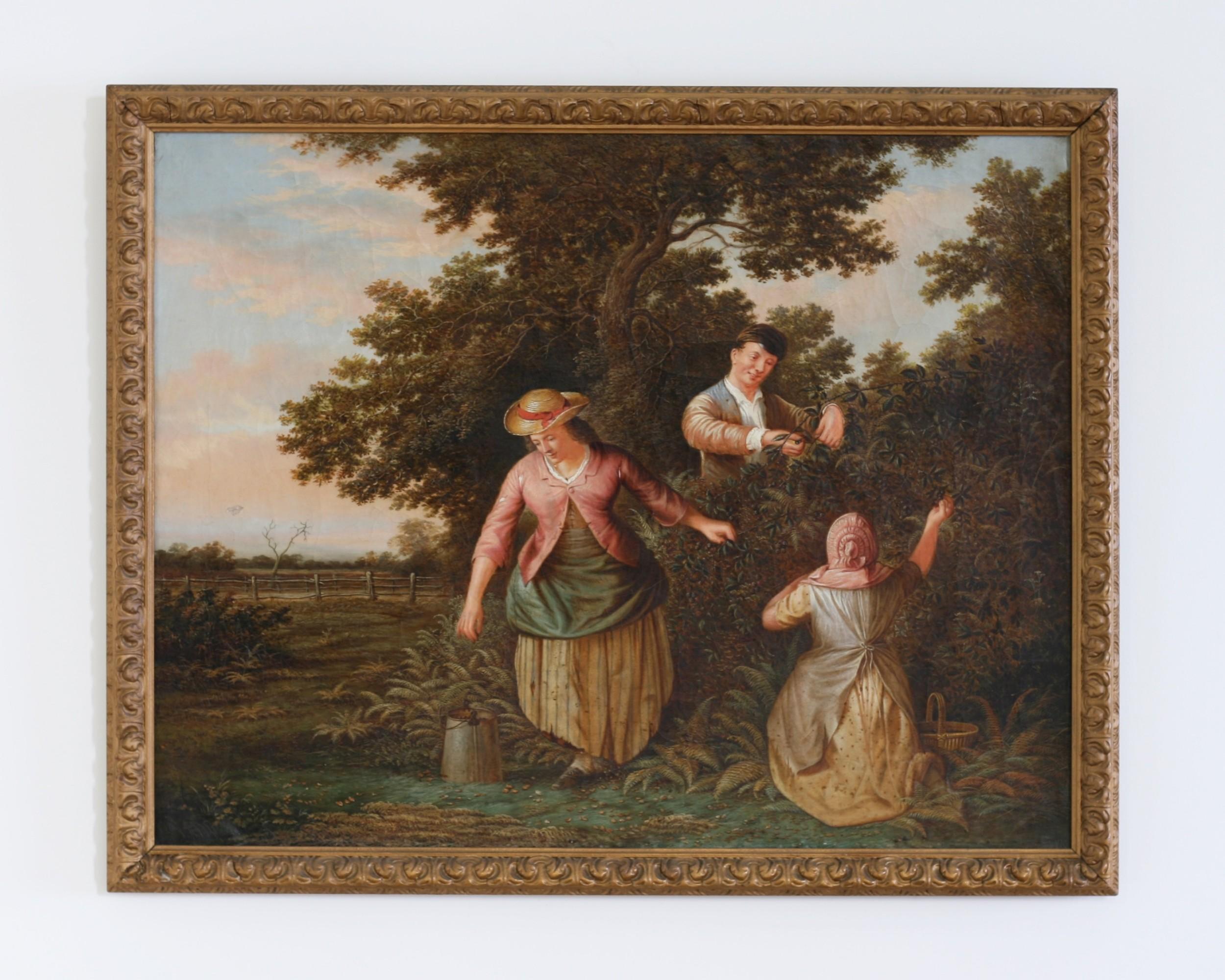 blackberry picking oil on canvas