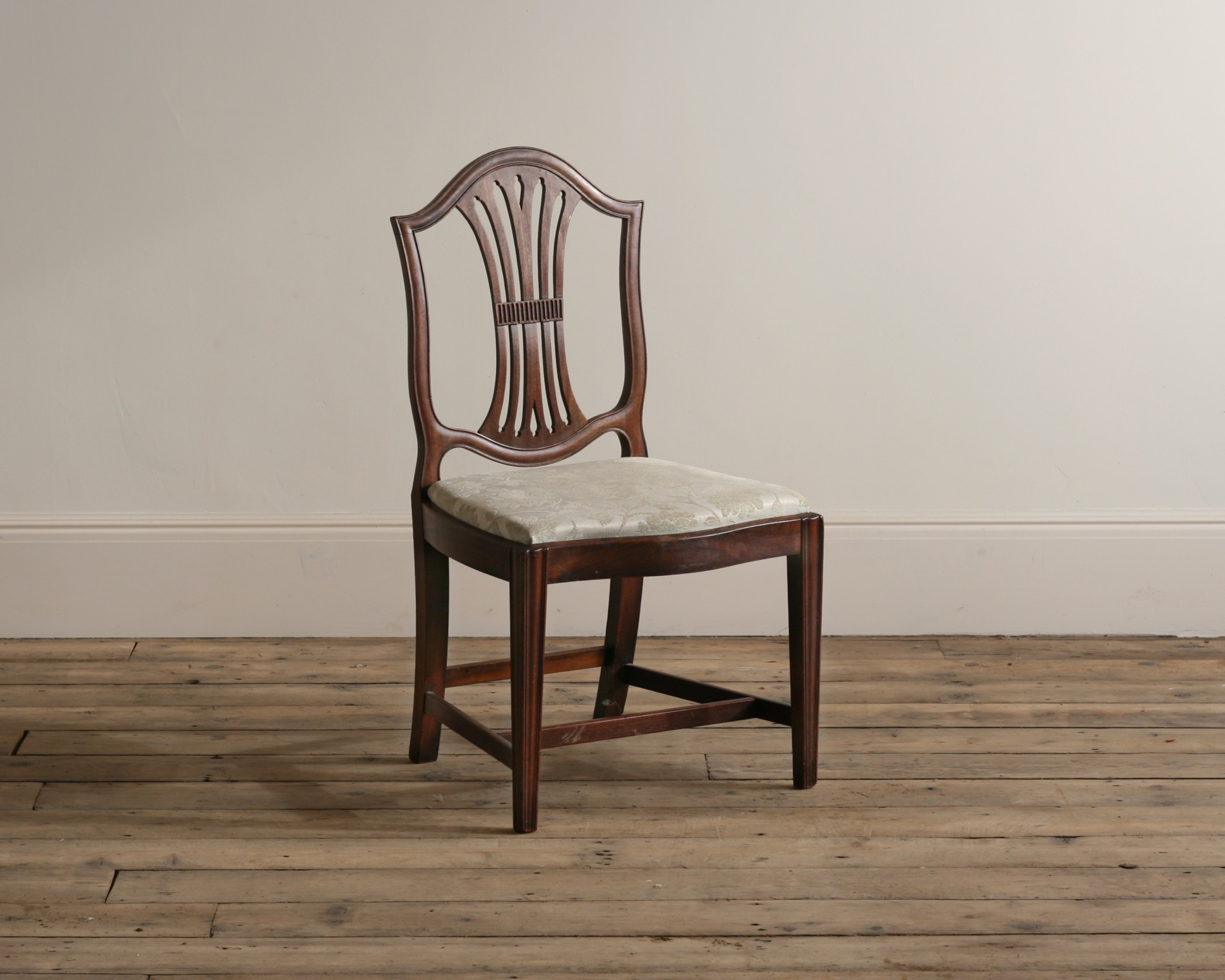 a george iii hepplewhite mahogany chair