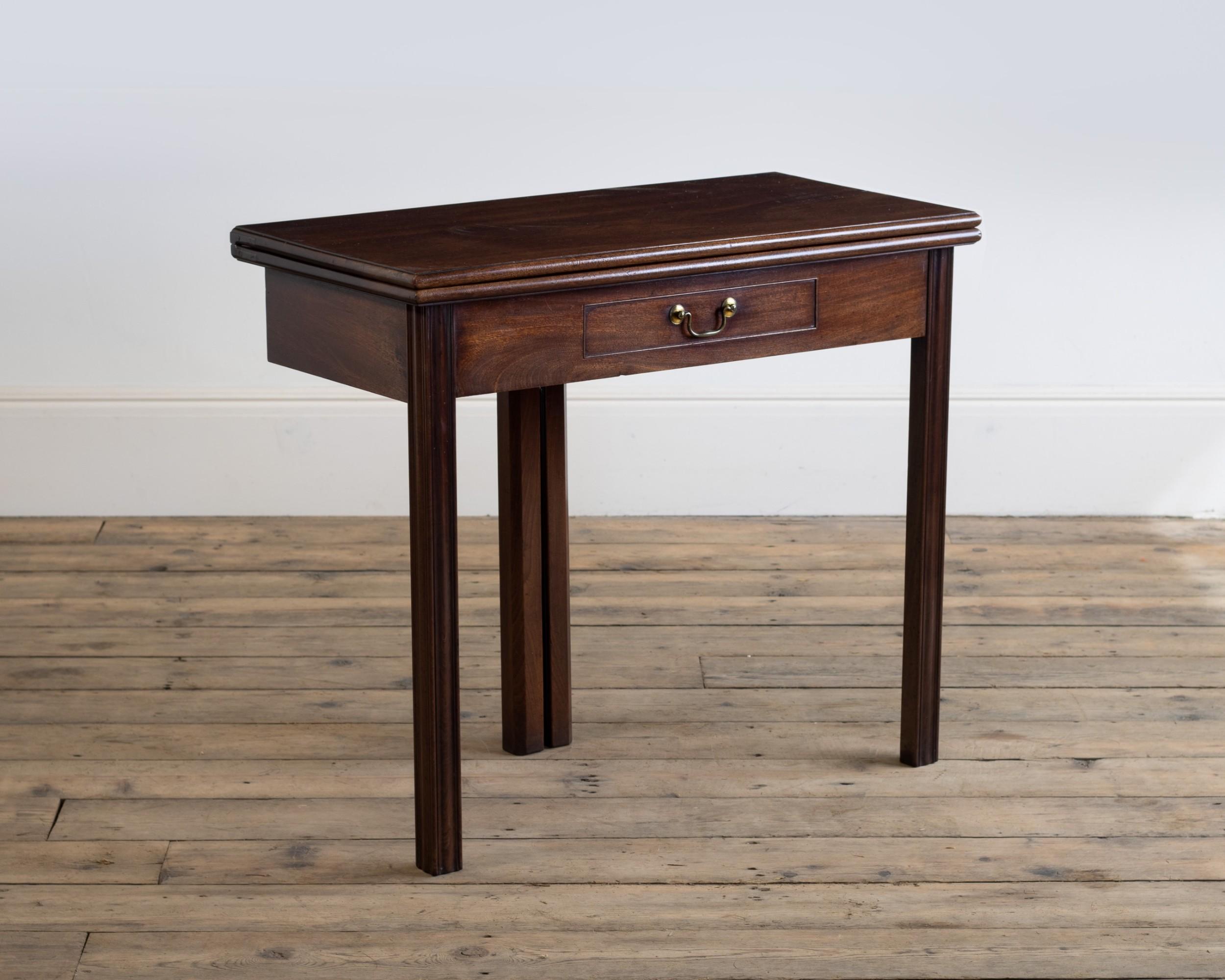 a george iii mahogany tea table