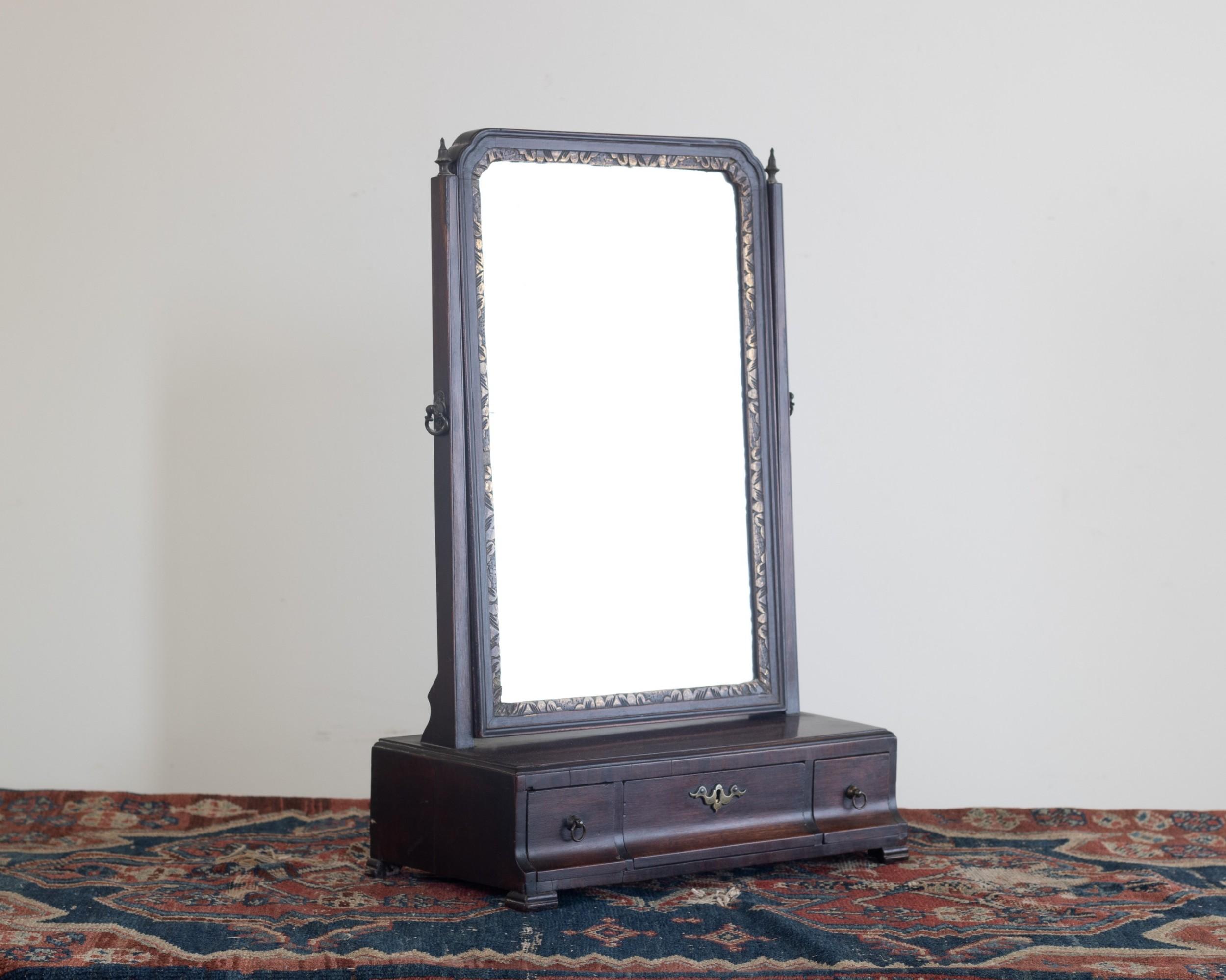 a george ii mahogany dressing mirror
