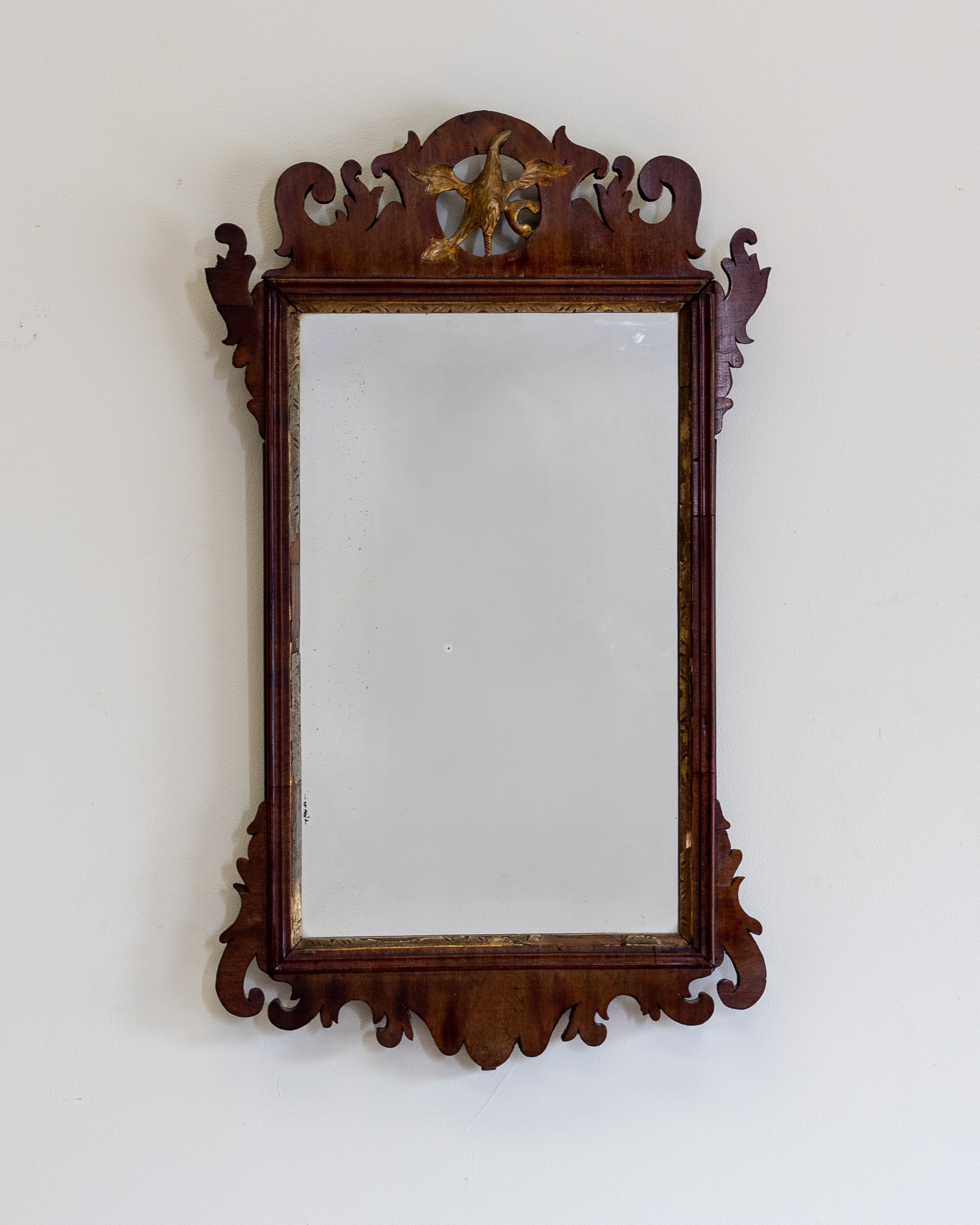 a georgian mahogany fretwork mirror