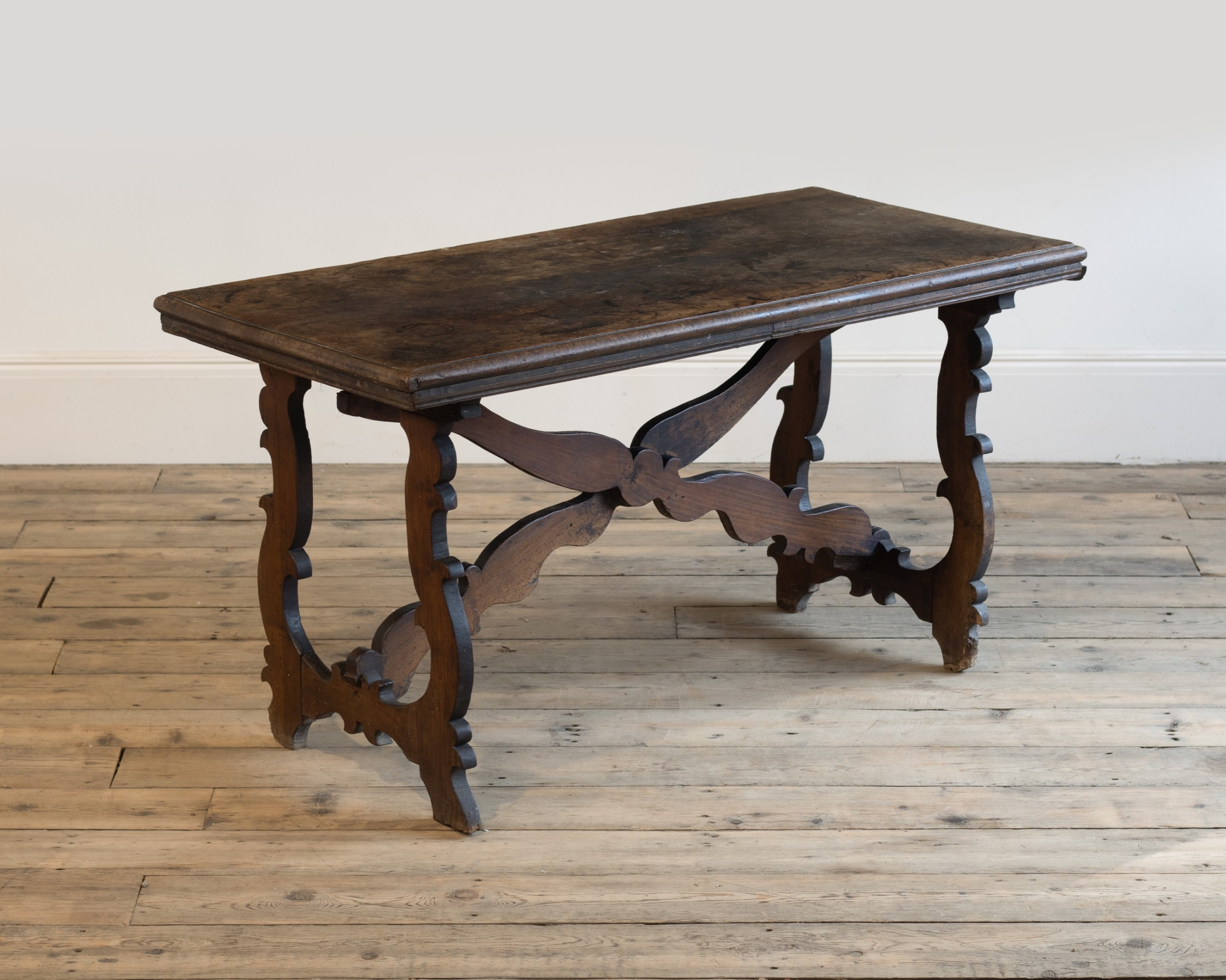 an 18th century continental walnut side table