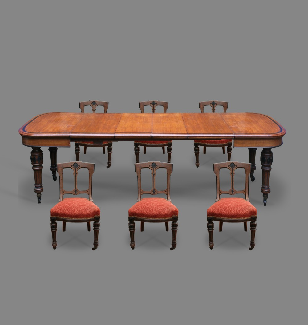 Oak Dining Table Six Matching Chairs 328565