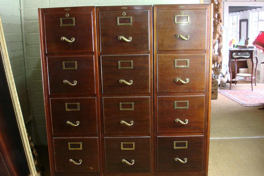 mahogany filing cabinet | 334493 | sellingantiques.co.uk