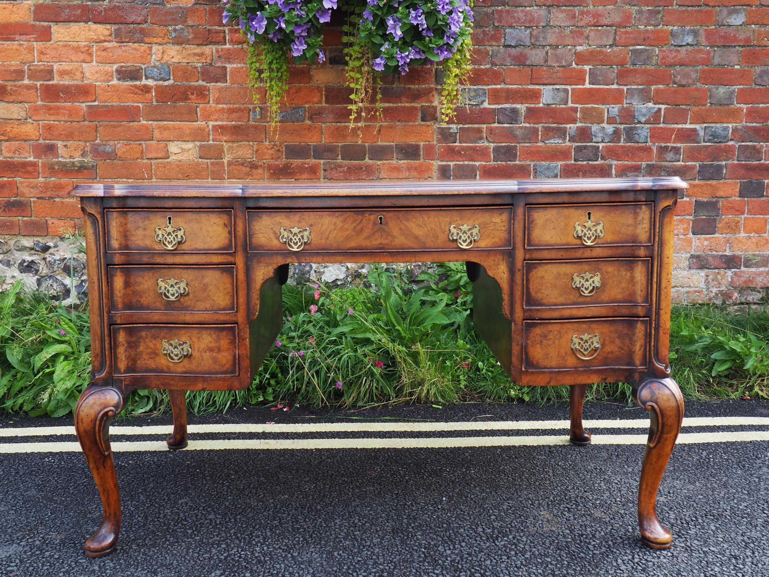 walnut kneehole desk