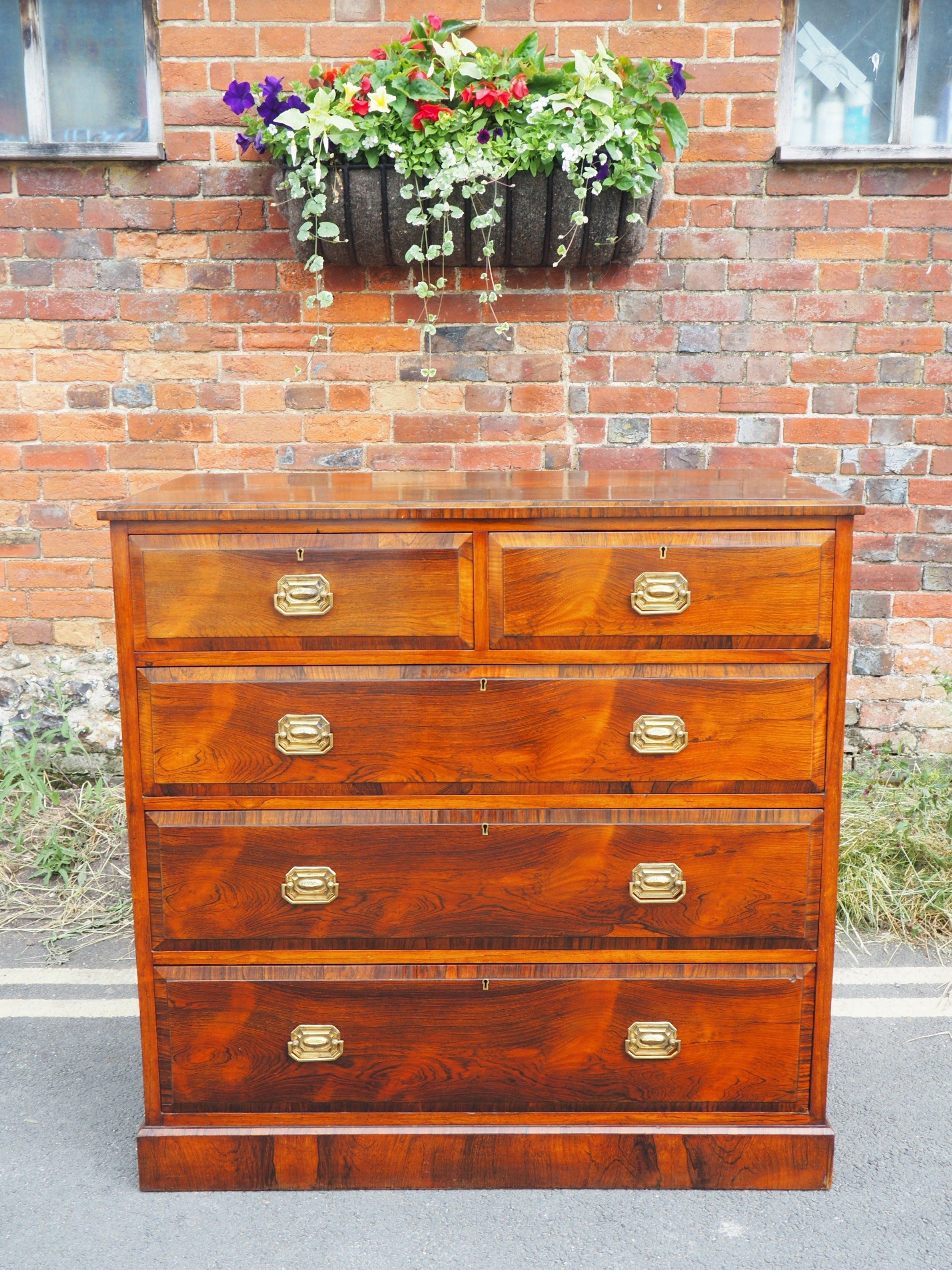 victorian rosewood chest of drawers
