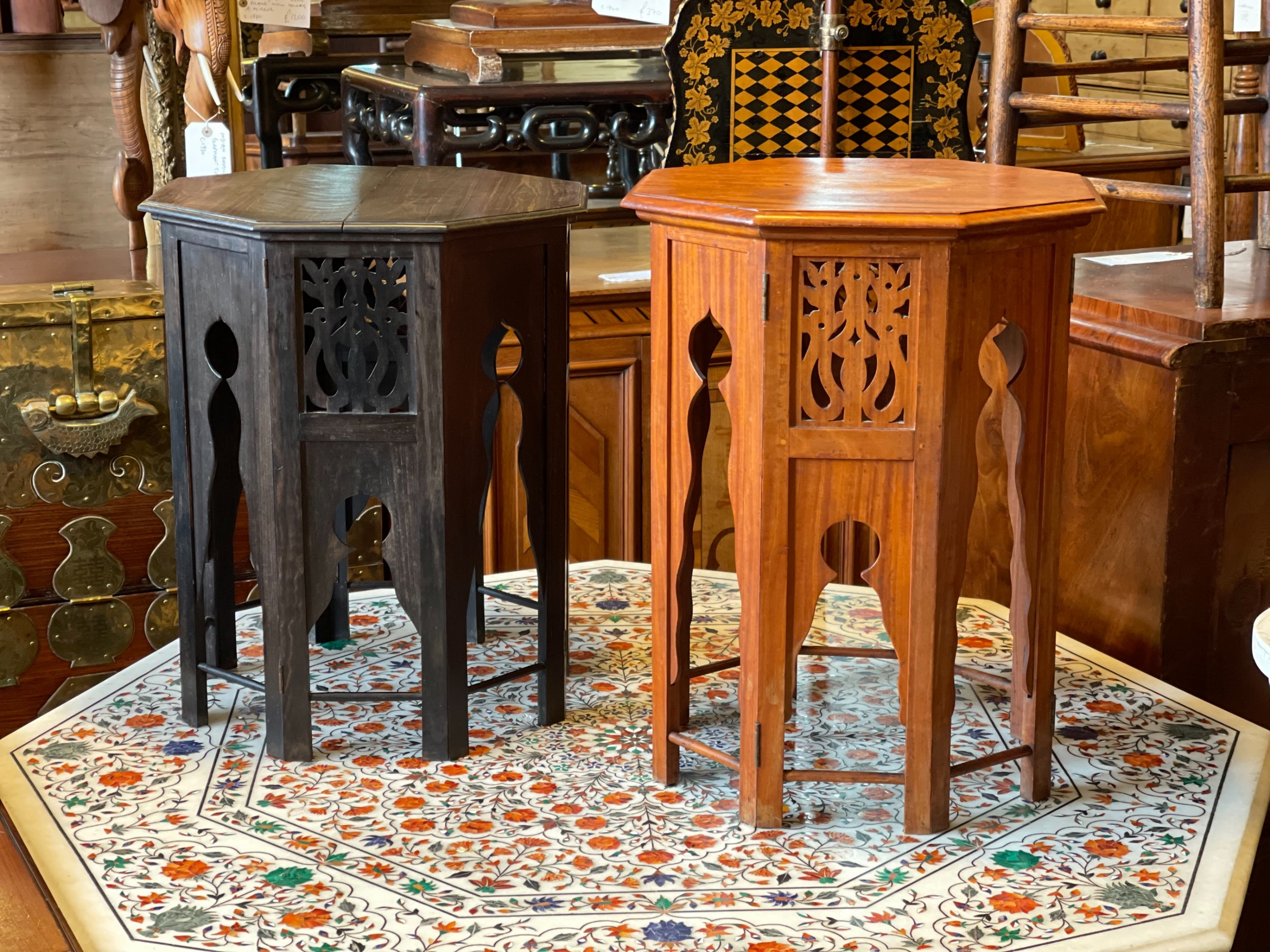two ceylonese tables