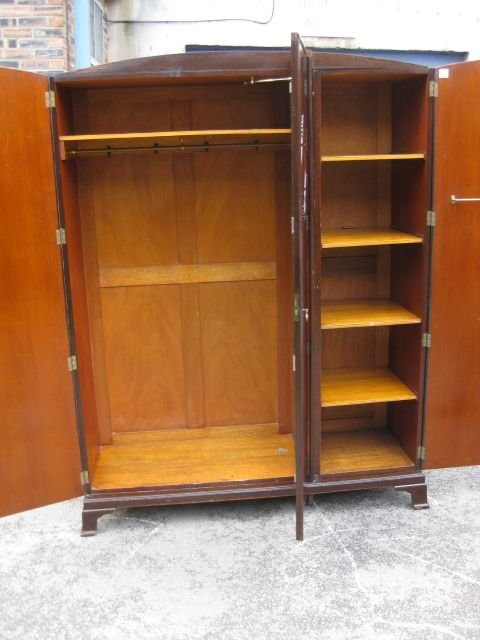 good vintage mahogany 3 door fitted wardrobe circa 191020matching tallboy for sale separately on my website - photo angle #2