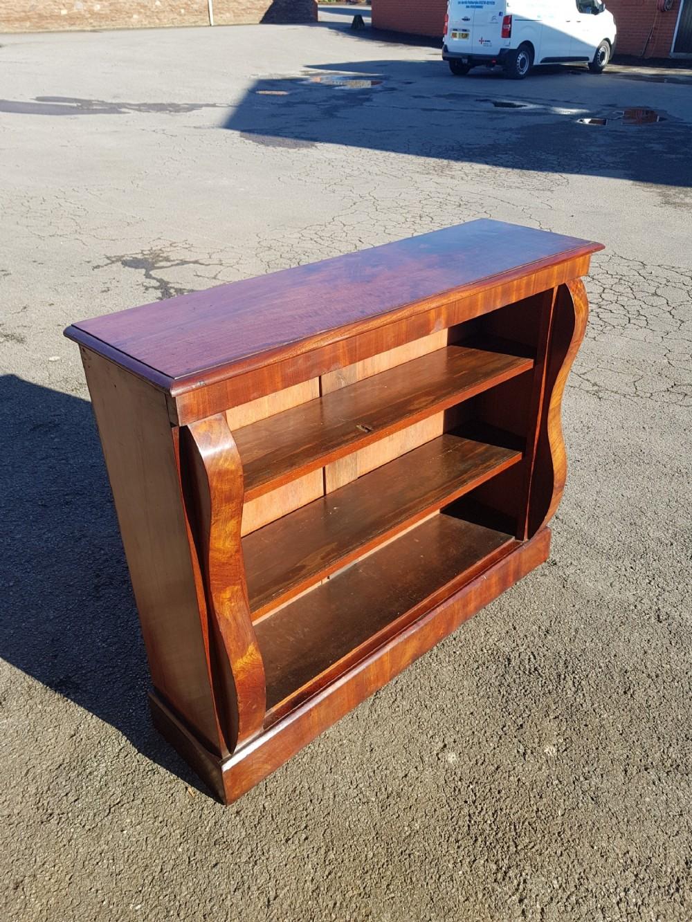victorian mahogany dwarf bookcase