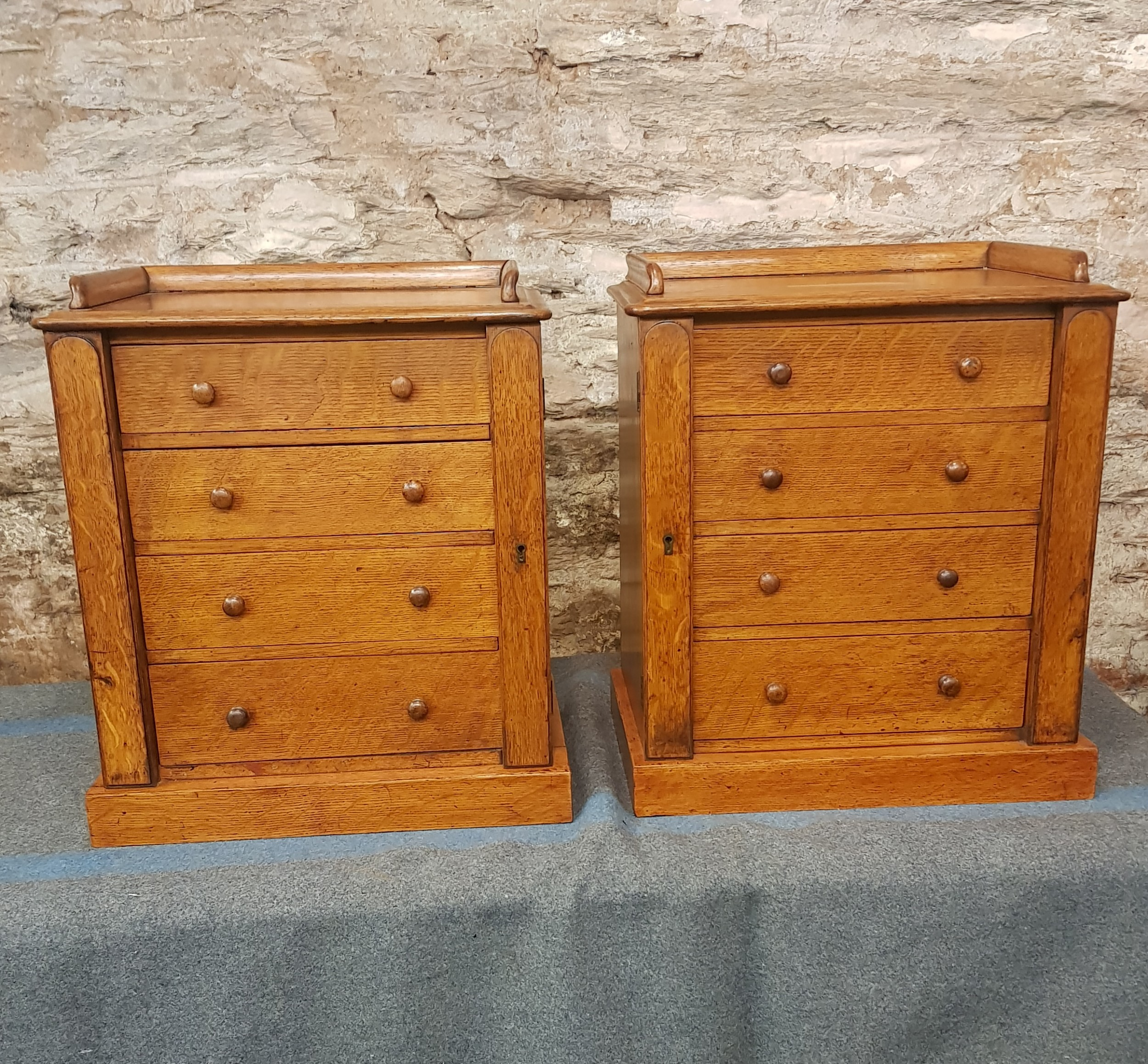 victorian pair of miniature wellington chests