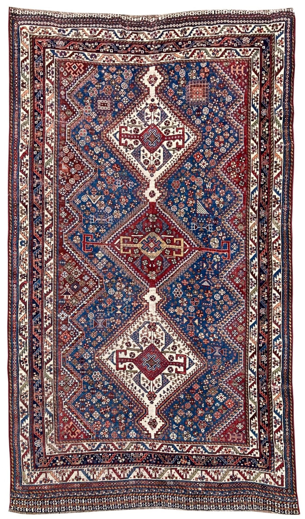antique qashqai rug 254m x 141m