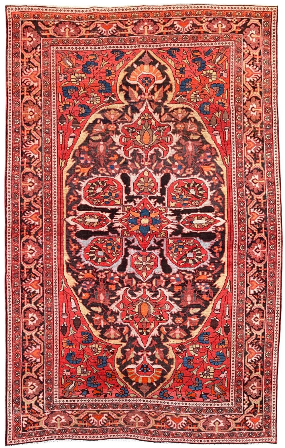 antique ferahan rug 197m x 132m