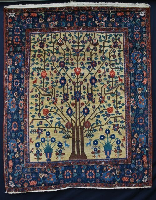 antique afshar rug neiriz southern persia