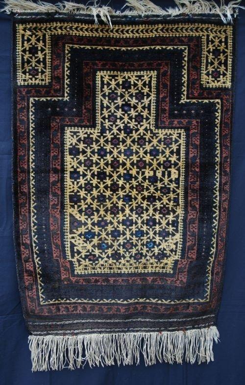 antique timuri prayerrug west afghanistan