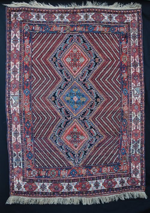 antique afshar rug south persia