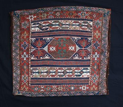 antique saddlebag face shahsevan tribes moghan azerbaijan