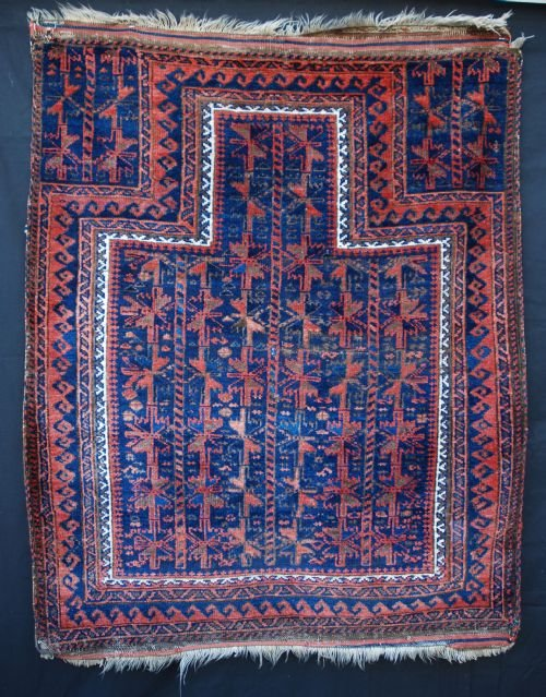 antique prayerrug timuri tribes western afghanistan
