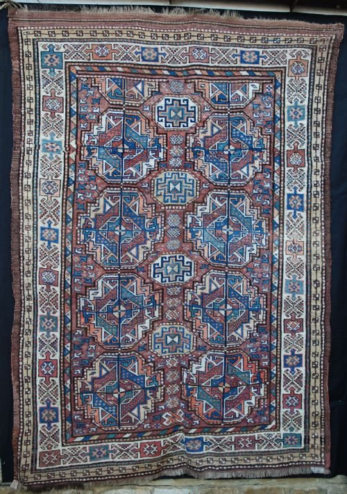 antique kordi rug kurds of khorassan northeast persia