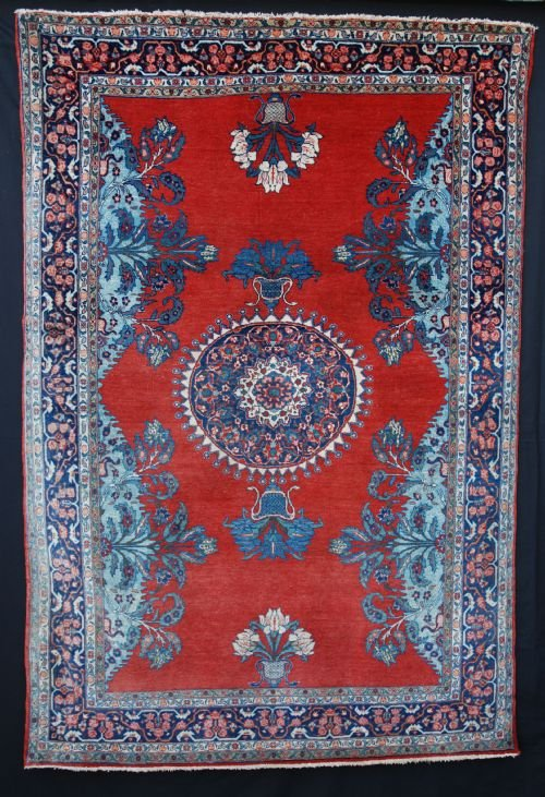 antique kashan rug kashan central persia