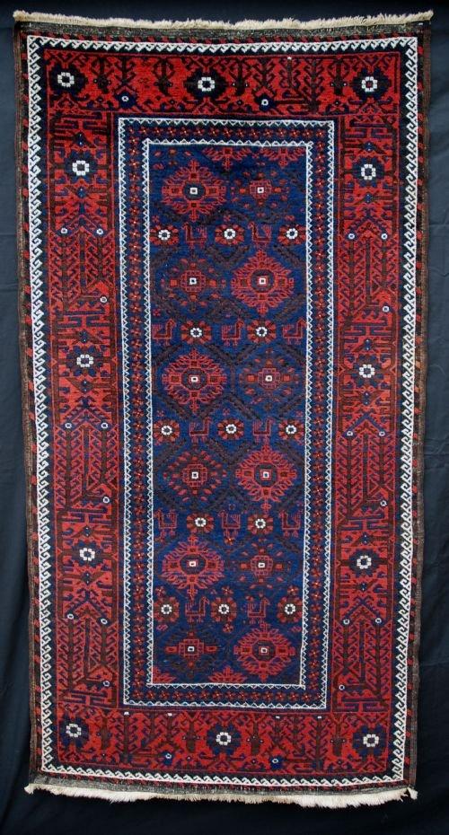 antique baluch rug khorassan northeast persia