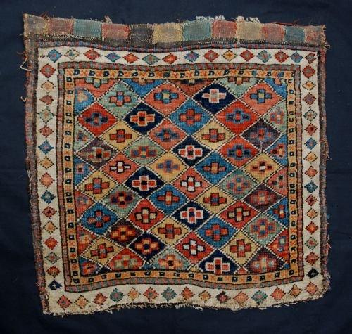 antique saddlebagface shahsevan tribes azerbaijan