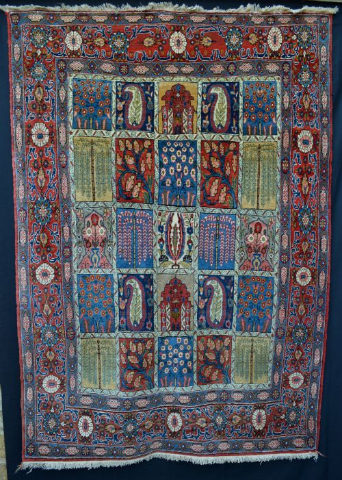 antique quom rug quom central persia