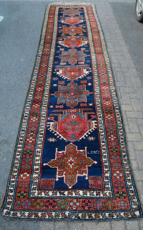 antique kurdish corridor carpet persian kurdistan