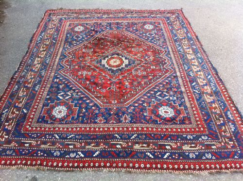 antique carpet khamseh confederacy tribes south west persia