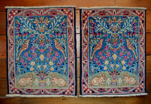 pair of old kerman mats kerman southern persia