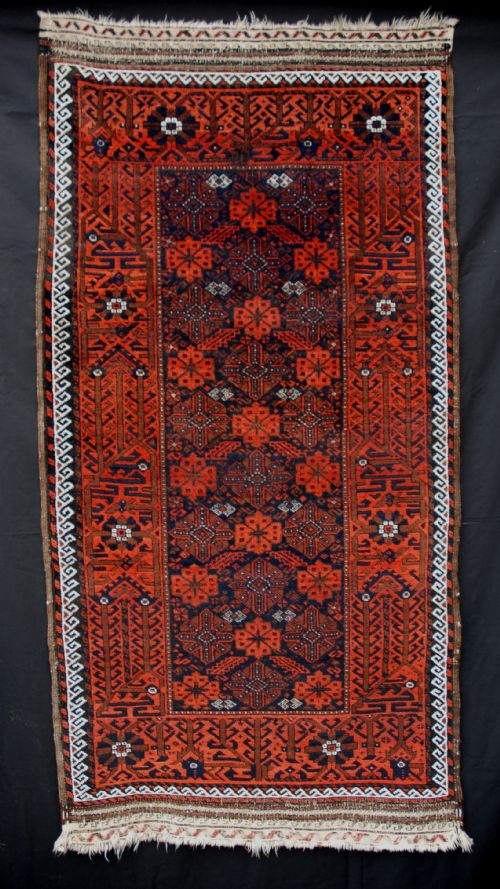 antique baluch rug khorassan northeast persia