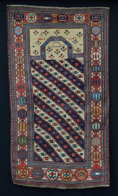 antique prayer rug gendje eastern caucasus