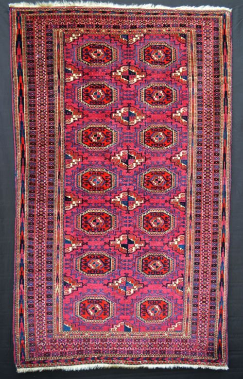 Thumbnail picture of: Antique Turkmen Rug, Sariq Tribes, Turkmenistan, Central Asia.