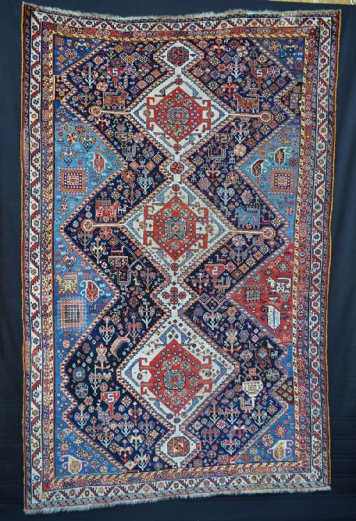 Thumbnail picture of: Antique Qashqa'i Tribal Rug, Fars Province, South-West Persia