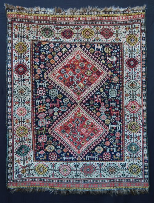 Thumbnail picture of: Antique Qashqa'i - Shekarlu Tribal Rug, Fars Province, South-West Persia.