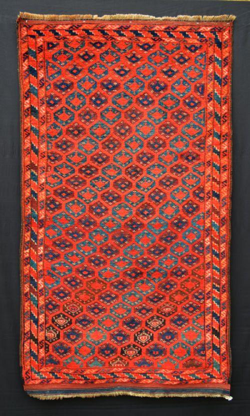 Thumbnail picture of: Antique Middle Amu Darya Rug, Ersari Turkmen Tribes, Turkmenistan.
