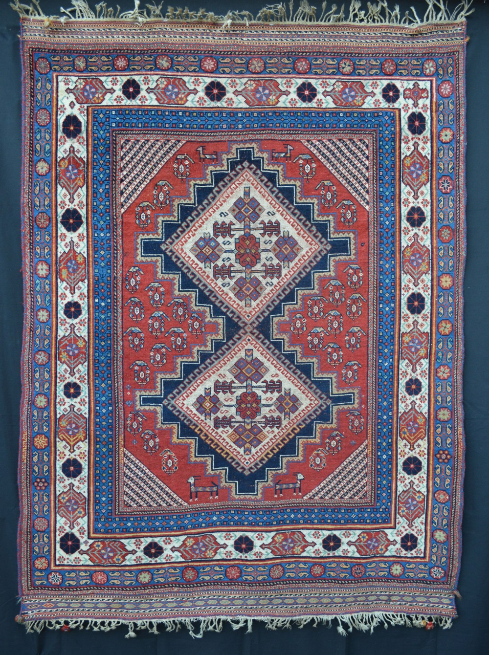 antique afshar tribal rug southern persia